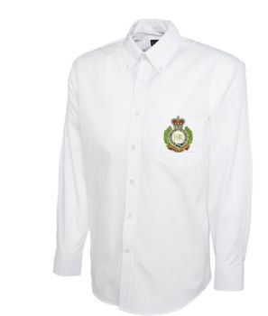 Personalised White Collared Embroidered Long Sleeve Shirt